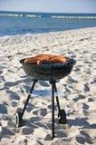 Barbacoa en la playa Imagen de archivo libre de regalías