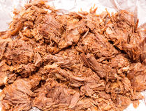 Barbacoa meat mexico style boiled cow meat Royalty Free Stock Photos