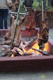 Barbacoa patagona del cordero Fotos de archivo libres de regalías
