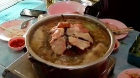 Barbacoa tailandesa, buffet tailandés de la barbacoa, metrajes