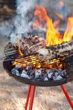 Barbacue fire Stock Photo