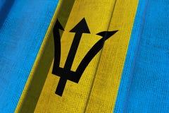 Barbadische Staatsflagge Stockbild