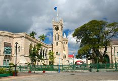 Barbados. Parliament Buildings of Barbados at National Heroes Square -bridgetown Stock Photo