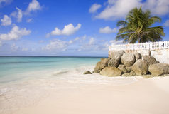 Barbados beach. View of exotic Barbados beach Royalty Free Stock Photo