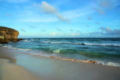Barbados. Beautiful sandy beach in Barbados in the Caribbean Stock Photo