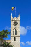 Barbados/Bridgetown: Parliament/Clock Tower with National Flag Stock Image