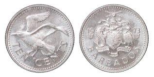 Barbados-Centmünze Stockfoto