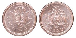 Barbados-Centmünze Stockbilder