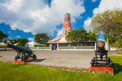Barbados clock tower Stock Photos