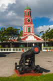 Barbados clock tower Royalty Free Stock Images