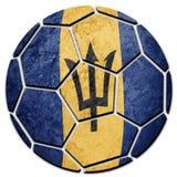 Barbados för medborgare för fotbollboll flagga Barbados fotbollboll Royaltyfri Foto