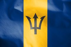 barbados flagę Obrazy Royalty Free