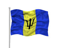 Barbados Flag 2 Royalty Free Stock Image