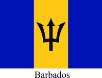Barbados flag Stock Images