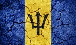 Barbados flag Royalty Free Stock Photography
