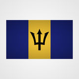 Barbados flag on a gray background. Vector illustration Royalty Free Stock Image