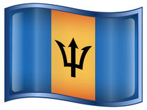 Barbados Flag icon Stock Images