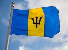 Barbados flagga Fotografering för Bildbyråer