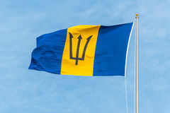 barbados flagga Royaltyfria Bilder