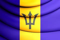 barbados flagga vektor illustrationer