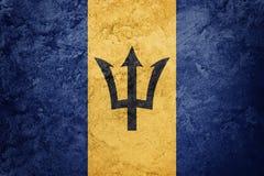 barbados flaggagrunge Barbados flagga med grungetextur Royaltyfria Foton