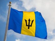 Barbados-Flagge Lizenzfreie Stockfotos