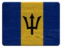 Barbados-Flagge Stockfoto