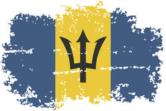 Barbados grunge flag. Vector illustration. Stock Photography