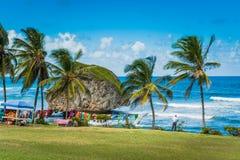 Barbados kustlinje i det karibiskt fotografering för bildbyråer