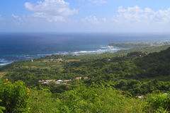 Barbados: Landscape with Atlantic Coastline Stock Photo