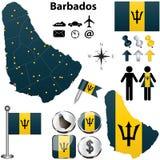 Barbados map royalty free stock photos