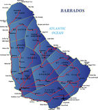 barbados mapa Zdjęcie Stock