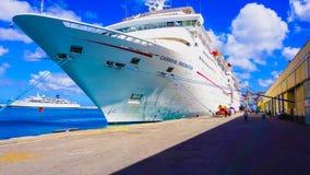 Barbados - May 11, 2016: The Carnival Cruise Ship Fascination at dock. Barbados, Barbados - May 11, 2016: The Carnival Cruise Ship Fascination at dock. She is Stock Photos