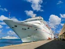 Barbados - May 11, 2016: The Carnival Cruise Ship Fascination at dock. Barbados, Barbados - May 11, 2016: The Carnival Cruise Ship Fascination at dock. She is Stock Photo