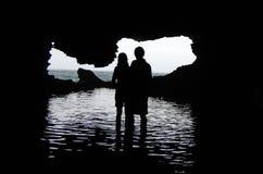 Barbados - Paare in der Tierblumen-Höhle Lizenzfreies Stockbild