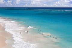 barbados plażowy żuraw fotografia stock