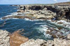 Barbados schroffer Nordpunkt auf Atlantik-Küste stockbilder