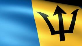 Barbados señalan agitar por medio de una bandera ilustración del vector
