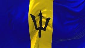 205 Barbados señalan agitar por medio de una bandera en fondo inconsútil continuo del lazo del viento libre illustration
