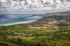 Barbados Shoreline Arkivfoton