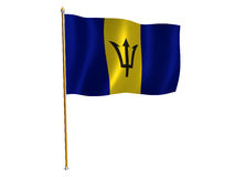 Barbados silk flag. Silk flag of Barbados Royalty Free Stock Images