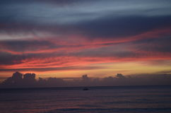 barbados solnedgång Royaltyfri Bild