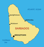 Barbados - vector map of country Royalty Free Stock Images