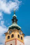 Barbakan塔-镇城堡, Banska Bystrica 免版税库存图片