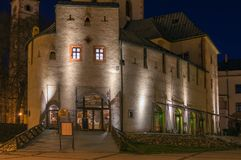 Barbakan,在Banska Bystrica的城市城堡 免版税图库摄影