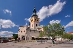 Barbakan,在Banska Bystrica的城市城堡 免版税库存照片