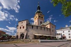 Barbakan,在Banska Bystrica的城市城堡 库存图片