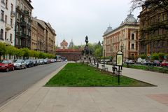 Barbakan in Cracow Matejko Square , Poland Stock Photography