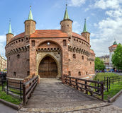 Barbakan fortress in Cracow, Poland Royalty Free Stock Image
