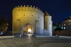 Barbakan gate to the Old Town in Warsaw Stock Photos